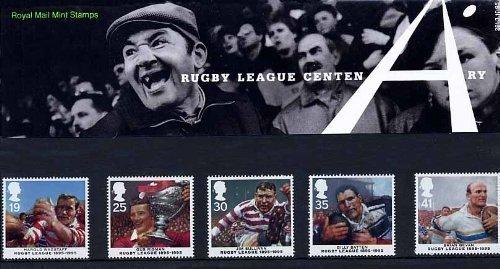 1995 Rugby League Centenary Euro-Gedenkmünzen Briefmarken-Set Nr 261-Royal Mail Briefmarken -