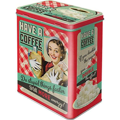 Nostalgic-Art - Recipiente para café (hojalata, 10 x 14 x 2 cm), diseño Retro