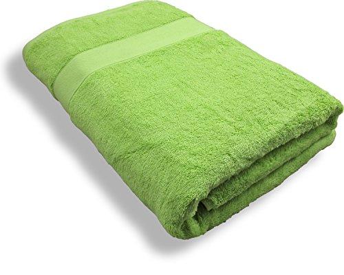 Repura Duschtuch Lounge (Kiwi) Grün 80x160 - 600g m2 schwere Qualität - Luxus Frottee aus Baumwolle - modern, edel, flauschig und besonders weich - Sauna-Bade-Hand-Tuch Wellness (Ägyptischen Lavendel Shirt)