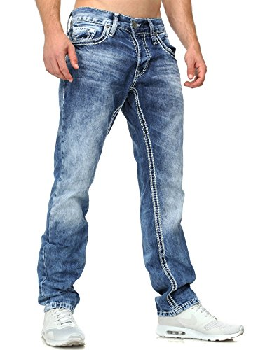 Amica Herren Jeans Vintage Look Five Pocket Blau