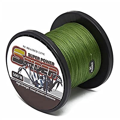 500M 4 Strand Braided Thread Sea Fishing Line 20lb 40lb 55lb 80lb Breaking Strain Various Colors by Generic