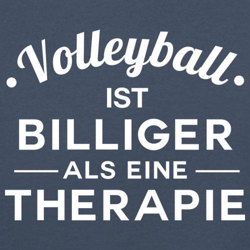 Volleyball ist billiger als eine Therapie - Damen T-Shirt - 14 Farben Navy
