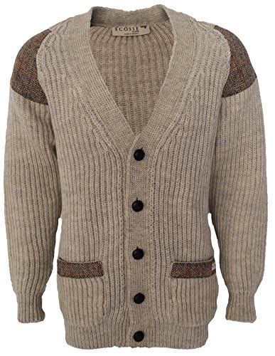 Niffi Ecosse - Gilet - Homme Multicolore Bigarré Multicolore - LT GREY WELSH with Brown Mix