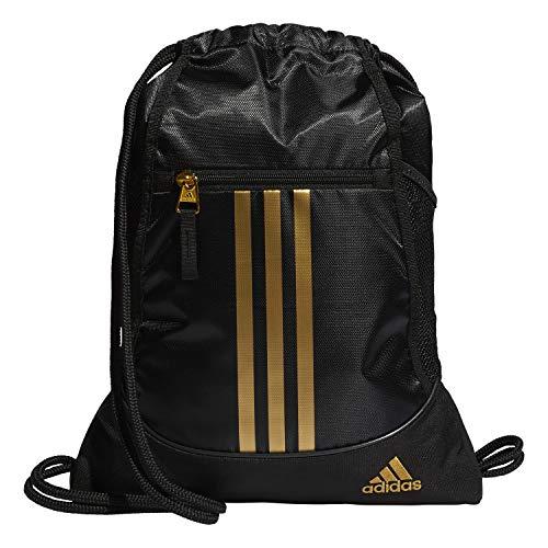 adidas Unisex-Erwachsene Alliance Ii Sackpack Tasche, Schwarz/Gold, Einheitsgröße