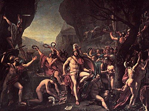 jacques-louis-david-leonidas-at-thermopylae-480-bc-1814-extra-large-archival-matte-brown-frame