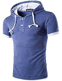 Allegra K Hommes Contraste Couleur Chemise À Capuche