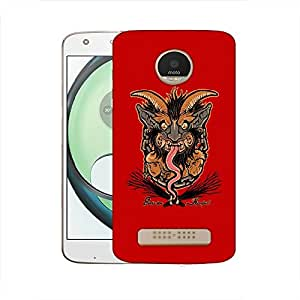 Snoogg Long Tongue Designer Protective Back Case Cover For MOTOROLA MOTO Z PLAY