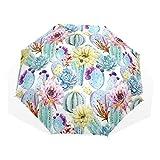 Paraguas Originales Con Cactus y Diseños Florales Resistente Al Viento