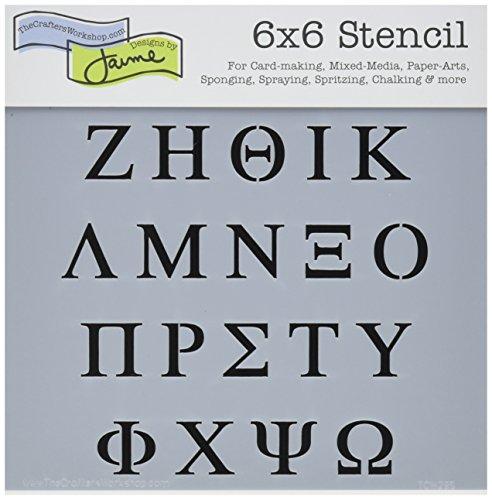 Crafters Workshop 6x 6Griechische Buchstaben Vorlage - 6-zoll-craft Buchstaben
