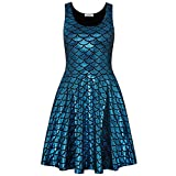 Perfashion Damen Meerjungfrau Ärmellos Party Club Kurz Abend Cocktail Ballkleid Skaterkleid Partykleid