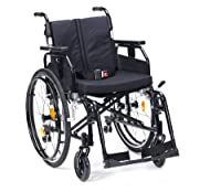 "Drive DeVilbiss Healthcare SD2 Aluminium Self-Propelled Wheelchair in Black (22"" Seat Width)"