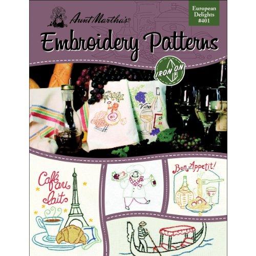 Tante Martha 's europäischen Delights Stickerei Transfer Muster Buch, über 25Eisen auf Mustern (Marthas Tante Transfers Stickerei)