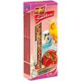 Vitapol Strawberry Smakers Treat Sticks for Budgies includes 2 Sticks