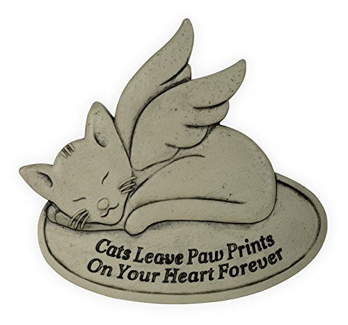 Unbekannt Angel Star Memorial Garden Stone-Cats Leave Paw Prints On Your Heart Forever, Hellbraun -