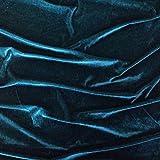 Blaugrün Samt Super Weich Velours Stoff, Kleid, Tanz, Kostüm, Abend–150cm breit (Pro Meter)