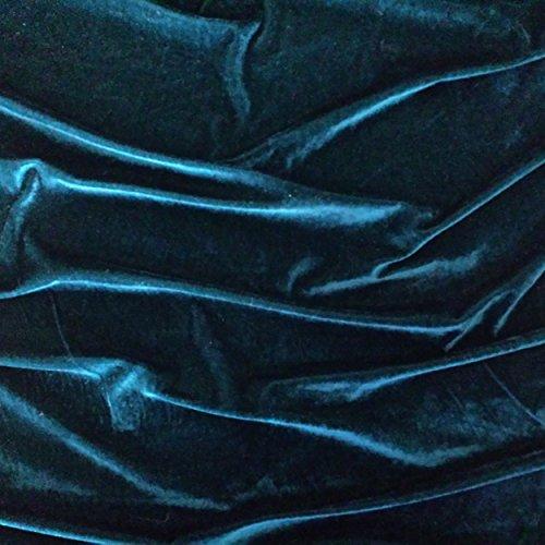 Blaugrün Samt Super Weich Velours Stoff, Kleid, Tanz, Kostüm, Abend-150cm breit (Pro Meter) (Pro Tanz Kostüm)