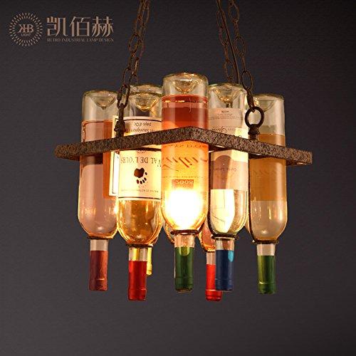 BBSLT IL Loft di lampadari creativo BAR Ristorante BAR BAR una bottiglia di Vino... PERSONALITA 'Arte Salotto Designer di lampadari, 300*H330MM+600MM