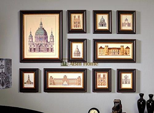 Multi Fotorahmen Wand Set - 10 Stück @ABm Home - Sonderausgabe (B2003)