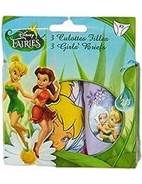 Disney les fées la fée clochette lot de 3 slips en enfant rose/violet/rose