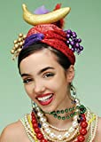 Carmen Miranda Glitter Showgirl fruta sombrero