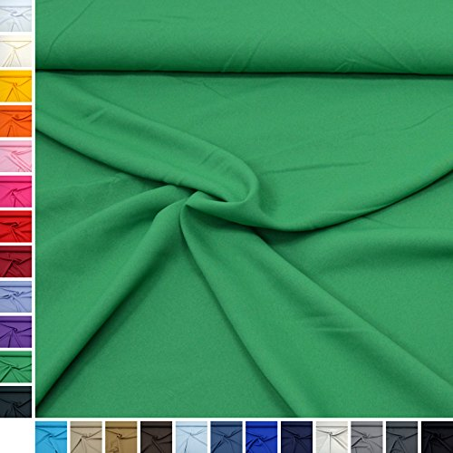 d-Stoff ''Mara'' Blickdicht und knitterarm, ideal für Kostüme, Tischdecken, Dekostoff - Meterware ab 50cm (11. Grün) (Link Mädchen Kostüm)
