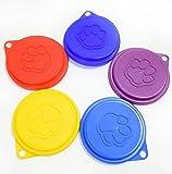 DaHanBL - Tapa de lata con impresión de garra para almacenamiento de alimentos para mascotas, perros y gatos (color al azar)