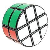EASEHOME Redondo 2x3x3 Speed Magic Puzzle Cube, Rompecabezas Cubo Mágico PVC Pegatina para Niños y Adultos, Negro
