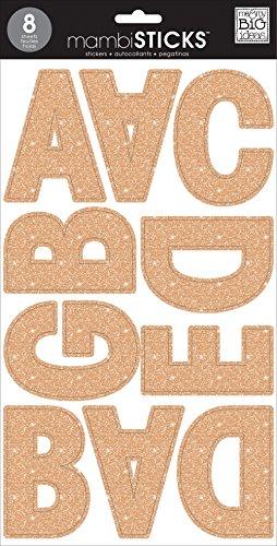 Unbekannt Me and my big Ideas Große Wort stickers-ava Rose Gold Glitter, anderen, mehrfarbig (Ava Rose)