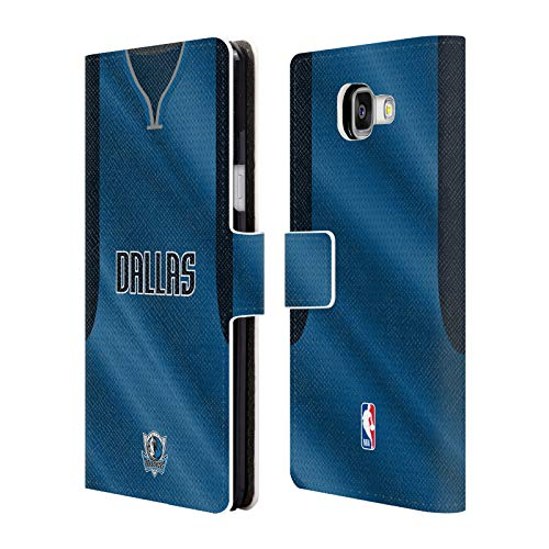 Head Case Designs Offizielle NBA Jersey Strasse 2018/19 Dallas Mavericks Brieftasche Handyhülle aus Leder für Samsung Galaxy A5 (2016)