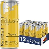 Red Bull Energy Drink Tropical Dosen Getränke Yellow Edition 12er Palette, EINWEG (12 x 250 ml)
