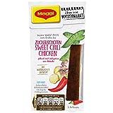MAGGI Ideen vom Wochenmarkt Zuckerschoten Sweet Chili Chicken, Würz-Paste zum Braten, pikant mit Jalapeños, 3 Portionen, 6er Pack (6 x 84 ml)