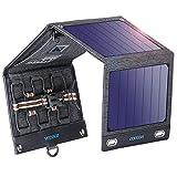 VITCOCO Pannello Solare Portatile, 16W Caricabatterie Solare Portatile Pannelli Solari with Dual-Port USB Impermeabile Portatile Pannello Solare Pieghevole per Telephone, Camera,etc.