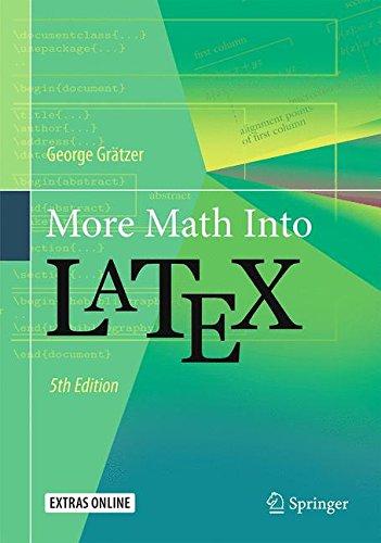 More Math Into LaTeX por George Grätzer