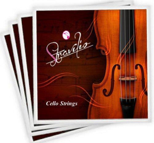 Komplettes Set hochwertige Cellosaiten Größe 4/4 & 3/4 Cellosaiten, A D G & C