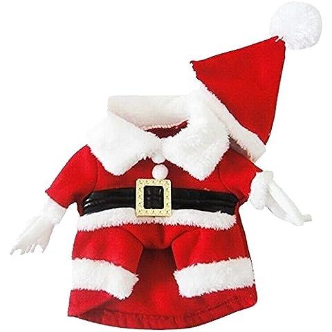 TANG imp Cucciolo Cane Rosso Natale Felpe Hoodies Vestiti Set Cane Caldo Cappotto Tuta con Cappello L