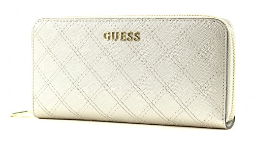 GUESS Aria Large Zip Around Nude Argento