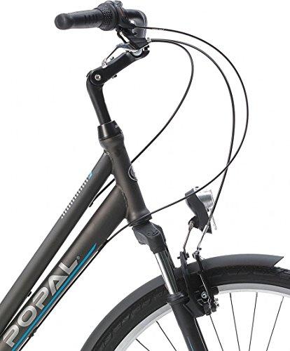 51Jp18Wdp%2BL - POPAL CityFlex 28 Inch 50 cm Woman 3SP Rim Brakes Grey