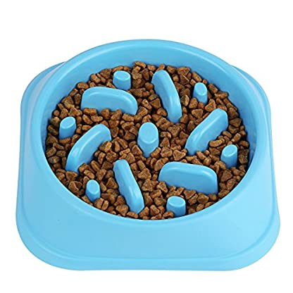 Slow Feed Dog Bowl, Clevero Durable Preventing Choking Dog Interactive Fun Feeder Bloat Stop Slow Eating Pet Bowl with… 1