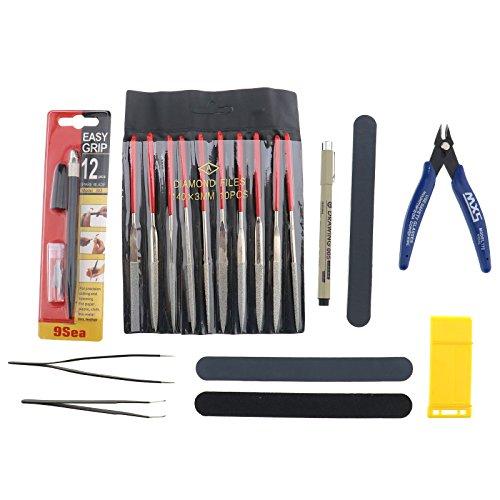 Tools Werkzeuge Kraft HandwerkSet Für Auto Modell Bausatz DIY Reparatur Fix Kit ()
