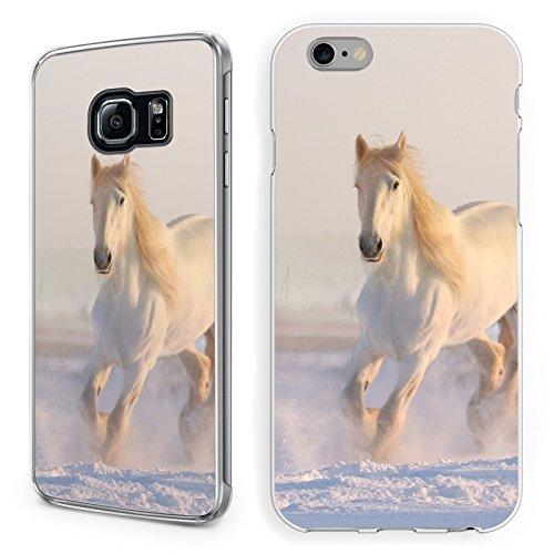 Hülle Pferde Samsung Hardcase Pferd Reiter Reiterhof Horse Trense Maultier, Handy:Samsung Galaxy S7, Hüllendesign:Design 1 | Hardcase Klar