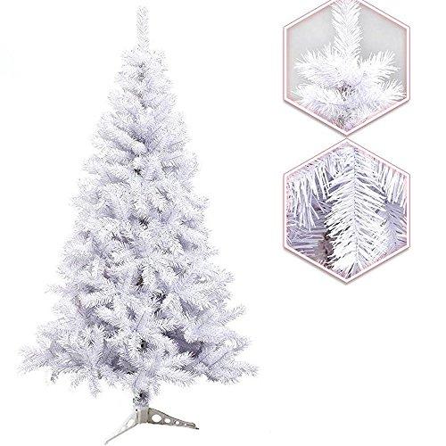 Hengda® 120cm ca. 200 Albero di Natale artificiale Albero di Natale Albero di deco bianco con il basamento di plastica