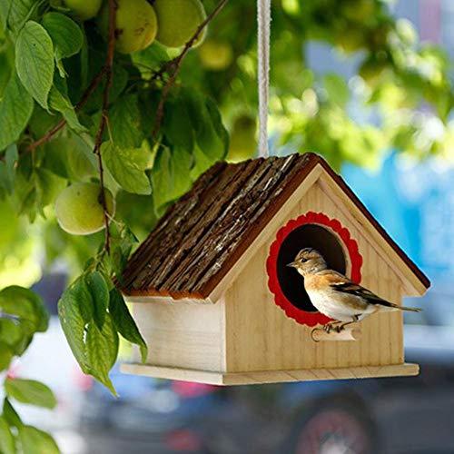 Sue-Supply Nido de pajareras de Madera para Paloma pinzón WREN gorrión pequeño Animal colibrí