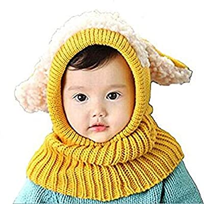 Panlom® Winter Baby Kids Girls Boys Warm Woolen Coif Hood Scarf Caps Hats : everything five pounds (or less!)