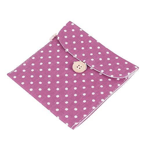 Damenbinden Tasche Menstruationstasse Beutel Stillkissenhalter Süße Tupfen Baumwolle Waschbar Organizer Lagerung