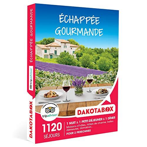 DAKOTABOX - Échappée gourmande - Coffret Cadeau Séjour Gourmand - 1 nuit avec...