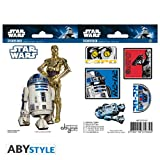 Star Wars AbyStyle R2D2/C3PO Aufkleber (Mehrfarbig)