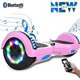 Cool&Fun Due Ruote 6.5' Scooter Elettrico, Monopattino Elettrico Autobilanciato, Balance Scooter Skateboard con LED, Motore 350W*2, Batteria Inclusa
