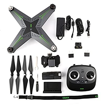 XIRO Xplorer (V Verision) Innovative Quadcopter with Remote Transmitter with UZ350V Gimbal and 1080P 30FPS HD Video Camera + ADDITIONAL BATTERY