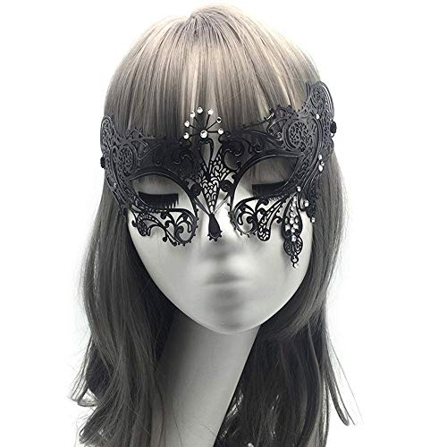 Xiao-masken Diamant Metall Laser Cut Venezianischen Halloween Cosplay Maskerade Weibliche Partei Maske Weiß Strass Phantom Ball Kostüm Hochzeit Maske (Cosplay Weibliche America)