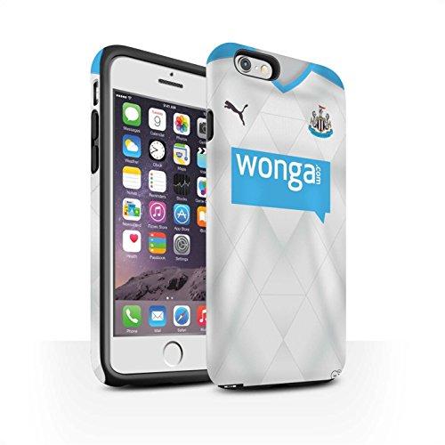 Offiziell Newcastle United FC Hülle / Matte Harten Stoßfest Case für Apple iPhone 6S / Pack 29pcs Muster / NUFC Trikot Away 15/16 Kollektion Fußballer
